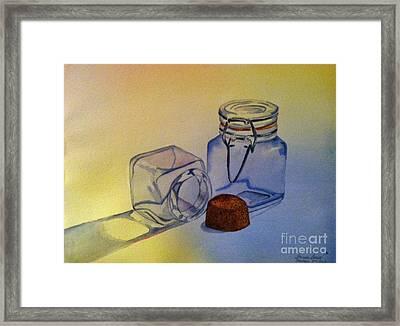 Reflective Still Life Jars Framed Print by Brenda Brown