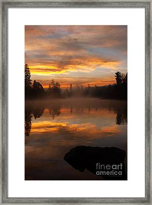 Reflective Sunrise Framed Print by Beve Brown-Clark Photography