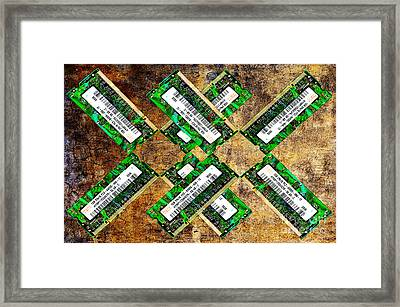 Refresh My Memory - Computer Memory Cards - Electronics - Abstract Framed Print by Andee Design
