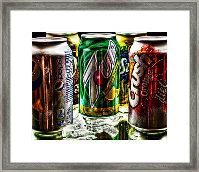 Refreshing Framed Print by Camille Lopez