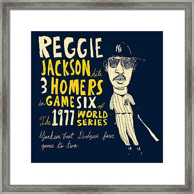 Reggie Jackson New York Yankees Framed Print by Jay Perkins