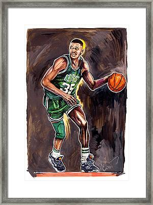 Reggie Lewis Twenty Years Gone By.... Framed Print by Dave Olsen