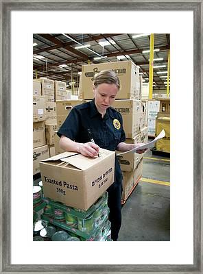 Regulation Of Food Imports Framed Print by Food & Drug Administration