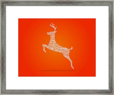 Reindeer Framed Print by Aged Pixel