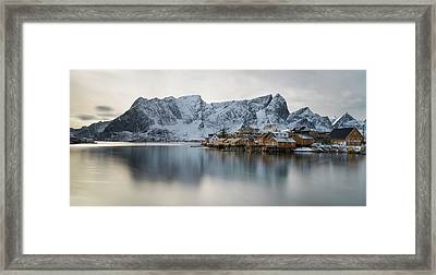 Reine And Sakrisoy Villages Framed Print by Panoramic Images