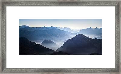 Reiter Alpe And Ristfeuchthorn Framed Print by Alexander Kunz