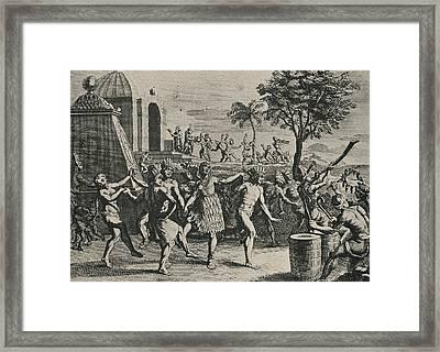 Rejouissances Des Mexicains, Au Framed Print by Everett