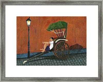 Relax A Moment Framed Print by Priyanka Paul