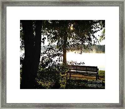 Relax And Enjoy The View Framed Print by Nancy E Stein