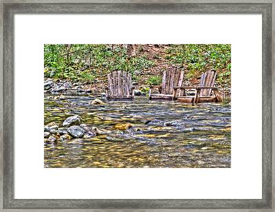 Relax And Refresh Framed Print by Heidi Smith