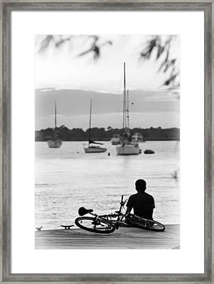 Relax Framed Print by Patrick M Lynch