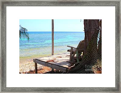 Relax Porch Framed Print by Carey Chen
