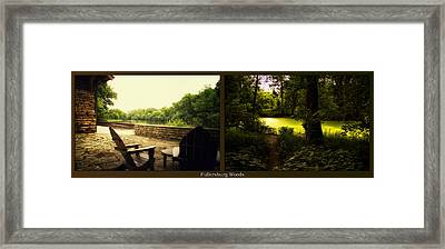 Relaxing By The River End Of The Path Fullersburg Woods 2 Panel Framed Print by Thomas Woolworth