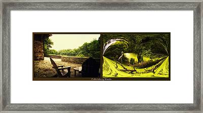 Relaxing By The River Under The Canopy Fullersburg Woods 2 Panel Framed Print by Thomas Woolworth