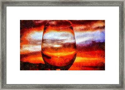 Relaxing Sunset Framed Print by Dan Sproul