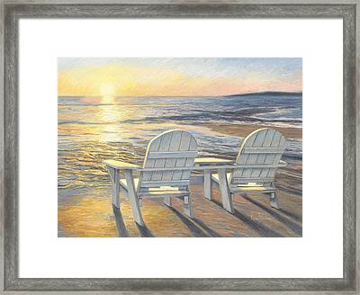 Relaxing Sunset Framed Print by Lucie Bilodeau