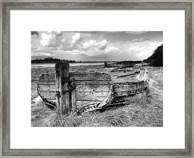 Remains Of The Kennet And Avon Barge Harriett At Purton Framed Print by Rachel Down