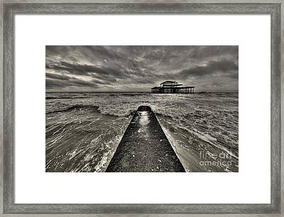 Remains Of The Pier  Framed Print by Rob Hawkins