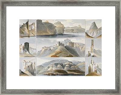 Remarkable Hills On The Upper Missouri Framed Print by Karl Bodmer