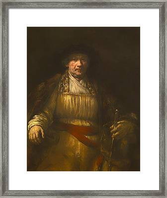 Rembrandt Self Portrait Framed Print by Mountain Dreams
