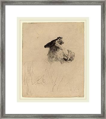 Rembrandt Van Rijn Dutch, 1606-1669, Old Man Shading Framed Print by Litz Collection