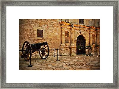Remember Framed Print by Jemmy Archer