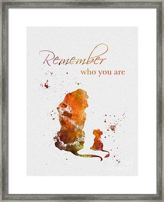 Remember Who You Are Framed Print by Rebecca Jenkins
