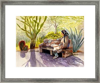 Remembering The Old Ones Framed Print by Marilyn Smith