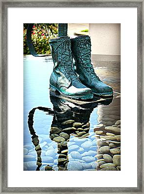 Remembering Those Boots Framed Print by Ingrid Zagers
