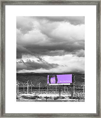 Remembrance Palm Springs First Lady Betty Ford Framed Print by William Dey