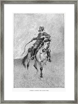 Remington Cowboy, 1891 Framed Print by Granger