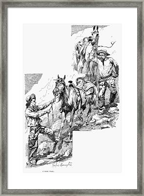 Remington Cowboys, 1887 Framed Print by Granger
