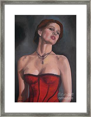Reminiscent Love Framed Print by Jindra Noewi