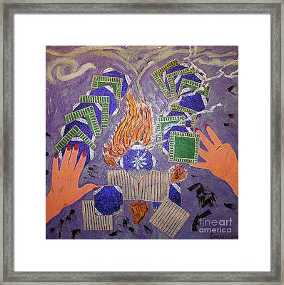 Remnant's From The Fire Framed Print by Robyn Louisell