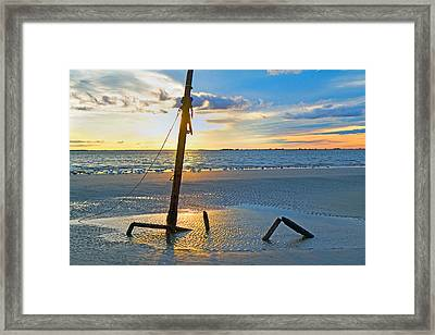Remnants Of The Past Framed Print by Betsy Knapp