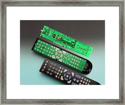 Remote Control Printed Circuit Board Framed Print by Sheila Terry