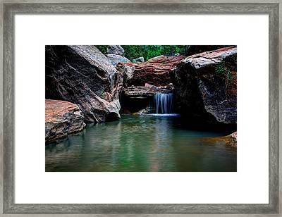 Remote Falls Framed Print by Chad Dutson