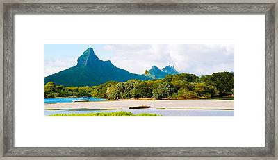 Rempart And Mamelles Peaks, Tamarin Framed Print by Panoramic Images