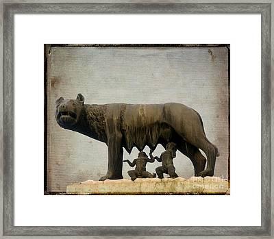 Remus And Romulus Framed Print by Bernard Jaubert