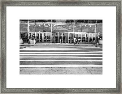 Renaissance Center Entrance  Framed Print by John McGraw