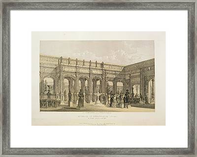 Renaissance Court Framed Print by British Library