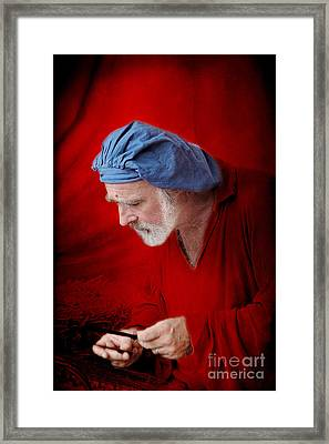 Renaissance Music Man Framed Print by Ellen Cotton