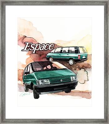 Renault Espace Framed Print by Yoshiharu Miyakawa