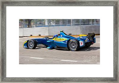 Renault Winner Of The Miami Eprix Framed Print by Rene Triay Photography