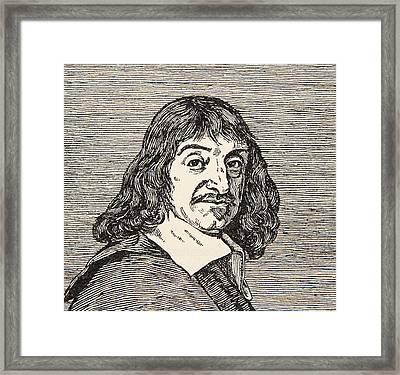 Rene Descartes Framed Print by French School