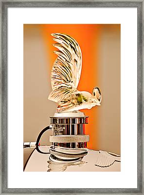 Rene Lalique -coq Nain - 1930 Bentley Speed Six H.j Mulliner Saloon Hood Ornament Framed Print by Jill Reger