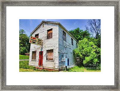 Renee's Discount Beverage Store By Diana Sainz Framed Print by Diana Sainz