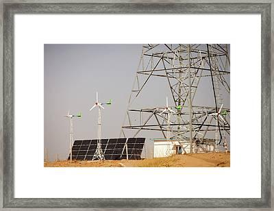 Renewable Energy Framed Print by Ashley Cooper