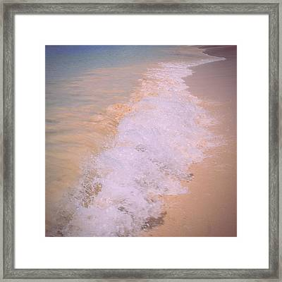Renewal - Waves Breaking On The Seashore Framed Print by Georgia Fowler