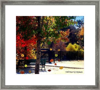 Reno Riverwalk In The Fall Framed Print by Bobbee Rickard